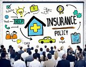 image of policy  - Diversity Business People Insurance Policy Seminar Conference Concept - JPG