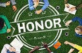 stock photo of integrity  - Honor Integrity Success Victory Achievement Concept - JPG