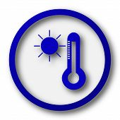 image of fahrenheit thermometer  - Sun and thermometer icon - JPG