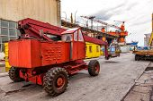 stock photo of shipyard  - Industrial equipment  - JPG