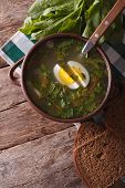 picture of sorrel  - sorrel soup close - JPG