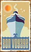 stock photo of passenger ship  - Vintage metal sign  - JPG