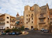 stock photo of olden days  - Old streets and picturesque houses of Vittoriosa - JPG