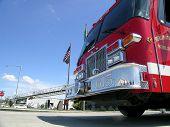 stock photo of burlington  - Fire Engine ready for duty at Burlington FD - JPG