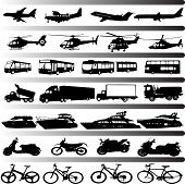 stock photo of dragster  - set of different types of transportation  - JPG