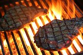 picture of ribeye steak  - Nothing says summer like steaks on the BBQ - JPG