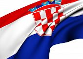 pic of former yugoslavia  - Flag of Croatia against white background - JPG