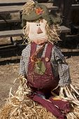 image of hayride  - A cute scarecrow and the kids love it - JPG