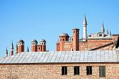 picture of harem  - Roof details on harem section at Topkapi Palace in Istanbul - JPG