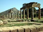 stock photo of artemis  - The ruins of the Temple of Artemis in Athens Greece - JPG