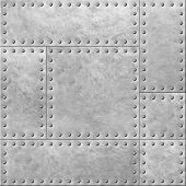 armoured metal plates with rivets seamless background or texture 3d illustration poster