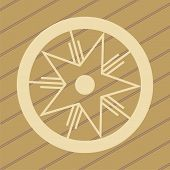 image of unexplained  - ufo crop circles design in wheat - JPG