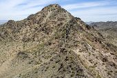 foto of piestewa  - Aerial view of the rocky terrain of Piestewa Peak in Phoenix - JPG