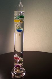 picture of galileo-thermometer  - thermometer - JPG