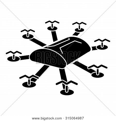 poster of Multi Copter Drone Icon. Simple Illustration Of Multi Copter Drone Icon For Web Design Isolated On W