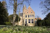 The Martenastate Is A Historic Building With A Nice Garden In The Historical City Of Franeker In The poster
