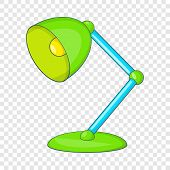 Green Table Lamp Icon. Cartoon Illustration Of Lamp Icon For Web Design poster