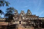 The Main Entrance To The Ancient Hindu Temple Ta Keo. The Ruins Of Ancient Civilizations. Ancient Mo poster