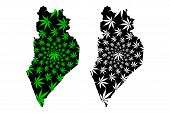 Perlis (states And Federal Territories Of Malaysia, Federation Of Malaysia) Map Is Designed Cannabis poster