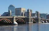 Boston Scenery With Bridge And River