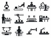 Assembly Line Icons Set. Simple Set Of Assembly Line Vector Icons For Web Design On White Background poster
