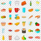 Chef Cooker Icons Set. Cartoon Style Of 36 Chef Cooker Icons For Web For Any Design poster