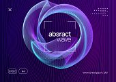 Trance Party. Dynamic Fluid Shape And Line. Bright Concert Banner Design. Neon Trance Party Flyer. E poster