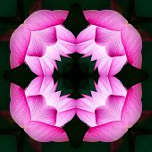 Seamless Symmetrical Pattern Abstract Purple Flower Texture poster