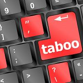 stock photo of taboo  - Computer keys spell out the word taboo - JPG
