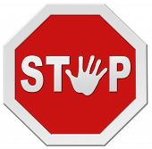 stop warning road sign hand stopping signpost halt