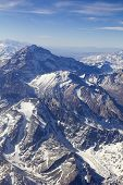 foto of aconcagua  - Mount Aconcagua in Mendoza Andes Mountain Range border between Argentina and Chile.