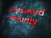 Security concept: Password Security on digital background