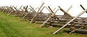 foto of battlefield  - Partially isolated fence from a Civil War battlefield on white background - JPG