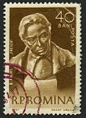 ROMANIA - CIRCA 1961 Postage stamps dedicated to George Enescu (1881-1955), Romanian composer, violi