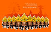 illustration of Ravana with ten heads for Dussehra Holiday