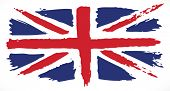 stock photo of british culture  - Grunge UK flag - JPG