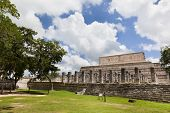 foto of yucatan  - Temple of the Warriors near Chichen - JPG
