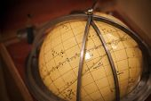 picture of stellar  - Ancient travel star sky globe in wooden box - JPG