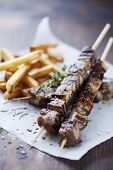 image of souvlaki  - meat skewer with herbs - JPG