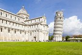 stock photo of piazza  - An image of the great Piazza Miracoli in Pisa Italy - JPG