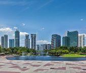 stock photo of kuala lumpur skyline  - Skyline of Central Business District of Kuala Lumpur - JPG