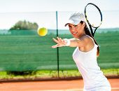 foto of balls  - playing tennis waiting tennis ball - JPG
