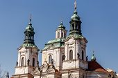 picture of saint-nicolas  - Prague Saint Nicholas church in historical center of old city - JPG