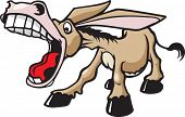 stock photo of imbecile  - A cartoon donkey with an attitude - JPG