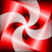 Design Colorful Vortex Movement Illusion Tetragon Geometric Background. Abstract Stripe Distorted Te