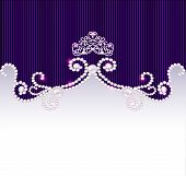 stock photo of crown jewels  - illustration vintage background with crown and jewels - JPG