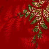 pic of asymmetrical  - Asymmetrical pattern of the leaves in red and green - JPG