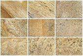 stock photo of shale  - Nine Natural Limestone Backgrounds or textures - JPG