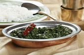 picture of tamil  - Close up view of Spinach Keerai - JPG