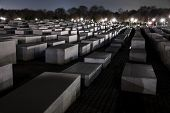 Shoah Memorial In Berlin At Night